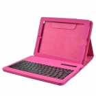 LIQUA-SHIELD Bluetooth V3.0 84-Key Keyboard w/ PU Leather Case for Ipad 2 / 3 / 4 - Deep Pink