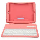 Bluetooth V3.0 64-Key Keyboard w/ Protective PU Leather Case Cover Stand for Ipad AIR - Pink