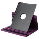 360 Degree Rotation Protective PU Leather Case Cover Stand w/ Auto Sleep for Ipad AIR - Purple