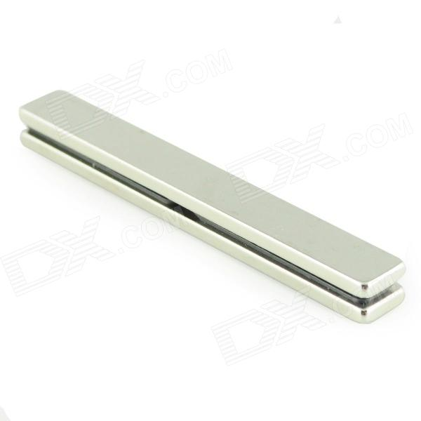 80 x 10 x 3mm Powerful NdFeB Magnets - Silver (2 PCS)