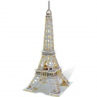 Robotime JZ501 Wooden Model Of The World Famous Buildings The Eiffel Tower - Yellow
