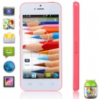 "XIAOCAI X800-W Dual-Core Android 4.2 WCDMA Phone w/ 4.0"" IPS, Wi-Fi, TF, 4GB ROM - White + Deep Pink"