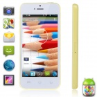 "XIAOCAI X800-W Dual-Core Android 4.2 WCDMA Bar Phone w/ 4.0"" IPS, Wi-Fi, TF, 4GB ROM - White +Yellow"