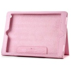 Litchi Pattern 2-Fold Protective PU Leather Case Cover Stand for Ipad AIR - Pink