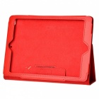 Protective PU Leather Case Cover Stand for Ipad AIR - Red