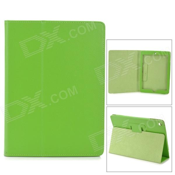Litchi Pattern 2-fold Protective PU Leather Case Cover Stand For Ipad AIR - Green