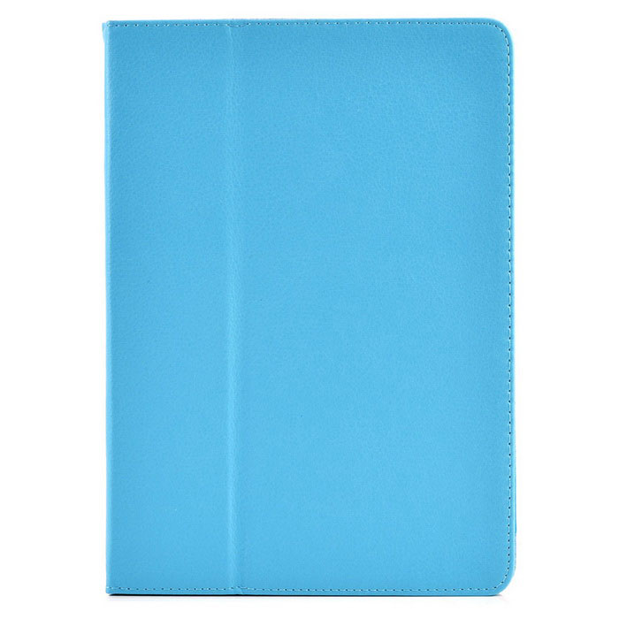 Litchi Pattern 2-Fold Protective PU Leather Case Cover Stand for Ipad AIR - Light Blue leather case colorful embossed litchi pattern left and right flip protective stand phone cover for xiaomi max blue