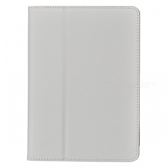 Litchi Pattern 2-Fold Protective PU Leather Case Cover Stand for Ipad AIR - White