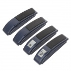 CARBSC Car Anti-static Anti-Collision Strips Stickers - Black + Dark Sapphire (4 PCS)