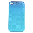 PANNOVO P-63 Mesh Style Protective Aluminum Alloy Back Case for Iphone 4 / 4S - Deep Blue