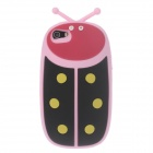 Ladybug Shape Protective Silicone Back Case for Iphone 5 / 5s / 5c - Pink + Black + Red + Yellow