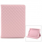 Stylish Diamond Style Protective PU Leather Case Cover Stand for Ipad AIR - Pink