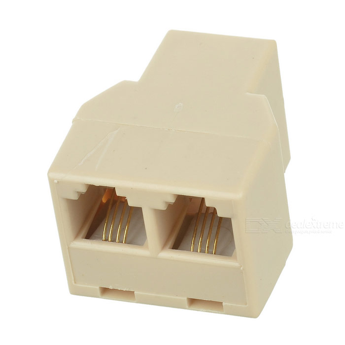 RJ11 Phone Cable 1-to-2 Female-Female Spliter Coupler