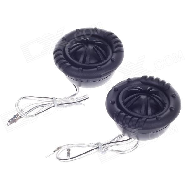 KUNFU KF-X6 25mm Tweeter Component Speakers for Car Audio System - Black (Pair)