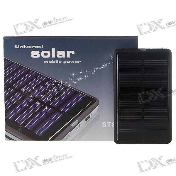 1800mAh Portable Solar Power Solar Power Battery Pack for Cell Phones and USB Gadgets