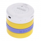 Portable Supper Bass Bluetooth V4.0 Speaker w/ TF / FM / Microphone - Yellow