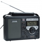 "Tecsun BCL-3000 3.3"" Full Band Stereo Radio Receiver w/ High Sensitivity Desktop Time Switch - Black"