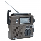 Tecsun GR-88 Portable Hand-held Full Band Stereo Hand Power Generator Radio Receiver w/ Lamp - Brown