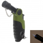 MENGHU 7024 High Quality Zinc Alloy Windproof Lighter w/ Cover - Black + Green