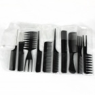 10-em-1 Professional Salon Combs Set - Black