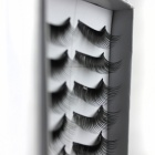 10-in-1 Pure Handmade Artificial Eyelashes - Black