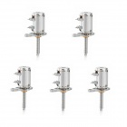Jtron 6mm 2-Phase 4-Wire Micro Stepper Motor with Small Screw - Silver (5 PCS)