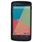"""S"" Style Protective TPU Back Case for Google Nexus 5 - Black"
