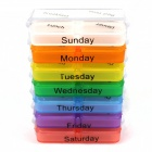 7-Day Plastic Medicine Organizer Box - Multicolored
