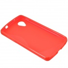 """S"" Style Protective TPU Back Case for Google Nexus 5 - Red"