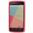 """S"" Style Protective TPU Back Case for Google Nexus 5 - Deep Pink"