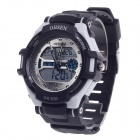 OHSEN AD1302 Men's Sport Analog + Digital Quartz Wrist Watch - Black + White (1 x CR-2025)