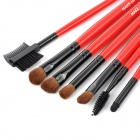 MAKE-UP FOR YOU Professional 24-in-1 Make-up Horse Hair + Persian Wool Brushes - Red