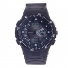 OHSEN AD1303 Fashion Multifunction Analog + Digital Display Waterproof Wrist Watch - Black + White
