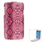 SAYOO 2412 Snakeskin Pattern Protective PU Leather Case Cover for Samsung Galaxy S4 i9500 - Pink