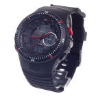 OHSEN AD1303 Fashion Multifunction Analog + Digital Display Waterproof Wrist Watch - Black + Red