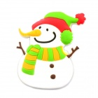 3.2 x 5.2cm Creative Cartoon Long Nose Snowman Fridge Magnet Chalkboard Stickers - Multicolored