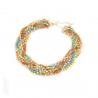 Fluorescent Twining Beads Necklace - Multicolored