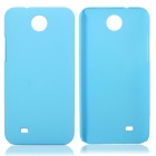 Fashionable Super Thin Protective Glaze PC Back Case for HTC Desire 300 - Blue