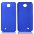 Fashionable Super Thin Protective Glaze PC Back Case for HTC Desire 300 - Deep Blue