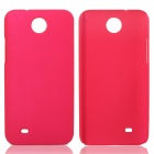 Fashionable Super Thin Protective Glaze PC Back Case for HTC Desire 300 - Deep Pink