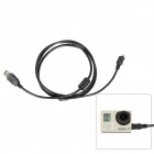 Fat Cat Anti-Electromagnetic Interference Data +Charging Cable for GoPro Hero3+ / 3 - Black (150cm)
