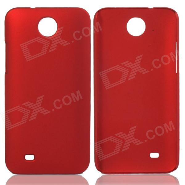 Fashionable Super Thin Protective Glaze PC Back Case for HTC Desire 300 - Wine Red