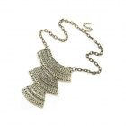 Fashionable Three Pieces Polygons Necklace - Antique Copper