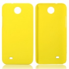 Fashionable Super Thin Protective Glaze PC Back Case for HTC Desire 300 - Yellow