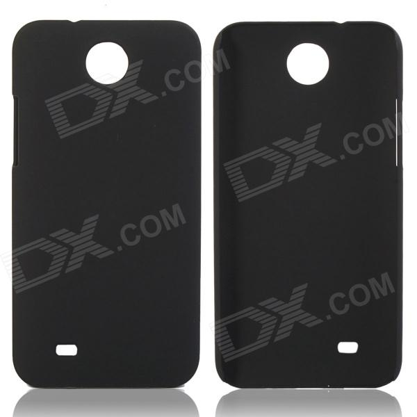Fashionable Super Thin Protective Glaze PC Back Case for HTC Desire 300  - Black