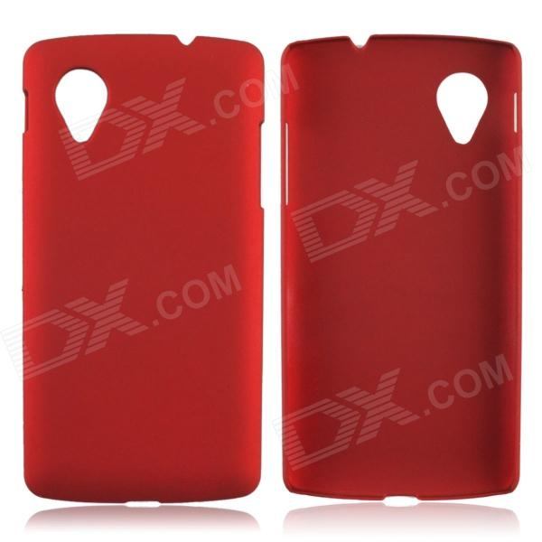 Fashionable Super Thin Protective Glaze PC Back Case for LG Nexus 5 - Wine Red