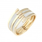 Metallic Piece Together The Metal Bar Women's Bangle - Silver + Golden