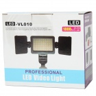 LED-VL010 4W 1800Lux 3200K / 5500K luce video w / 2 x filtri 60-LED - nero (4 x AA)