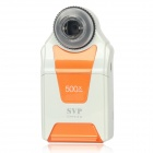 "DM54D 2.7"" LCD 5.0 MP CMOS Handheld Digital Camera w/ 500X Magnifier Microscope - Orange + White"