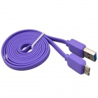 Micro USB 9-Pin Male to USB 2.0 Male Data Sync / Charging Cable for Samsung Galaxy Note 3 - Purple